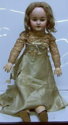 BISQUE HEAD DOLL| Having open mouth with teeth, set