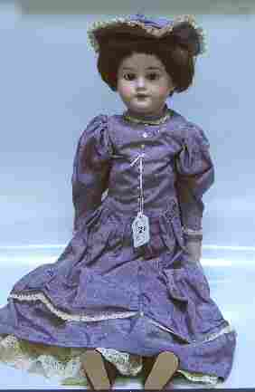 ARMAND MARSEILLE BISQUE HEAD DOLL| Having open mout