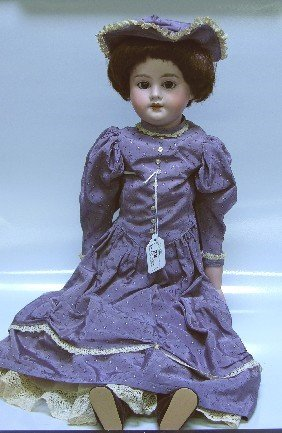23: ARMAND MARSEILLE BISQUE HEAD DOLL| Having open mout