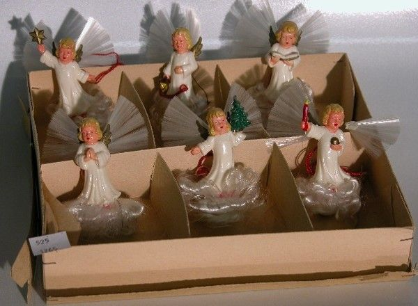 ***SIX CELLULOID ANGELS| Six different poses, all