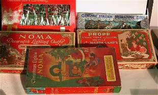 ***SIX BOXES OF CHRISTMAS LIGHTS| Two marked Nom