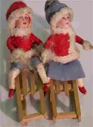 ***TWO GERMAN HEUBACH CHRISTMAS FIGURES| Depicti