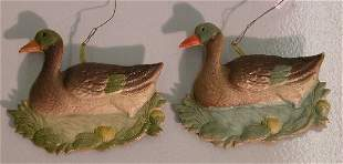 ***TWO DRESDEN CHRISTMAS ORNAMENTS| Depicting du