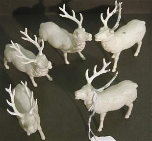 ***FIVE CELLULOID CHRISTMAS DECORATIONS| Depicti