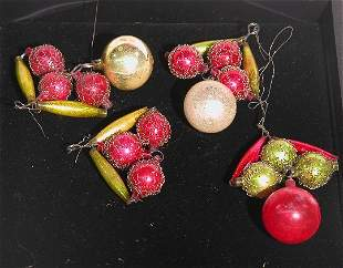 ***SIX WIRE WRAPPED ORNAMENTS| CONDITION: Good,