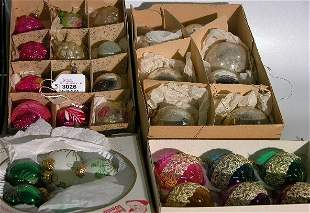 ***FOUR GROUPS OF CHRISTMAS ORNAMENTS| CONDITION
