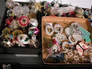 ***TWO GROUPS OF CHRISTMAS ORNAMENTS| Bells, star