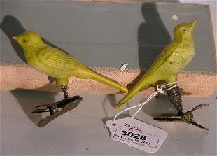 ***TWO YELLOW BIRDS ON SPRING CLIPS| CONDITION