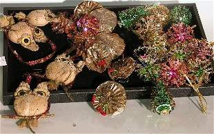GROUP OF ORNAMENTS| Comprising Christmas tree, fl