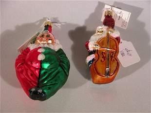 ***TWO CHRISTOPHER RADKO CHRISTMAS ORNAMENTS| Dep