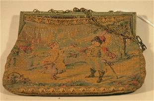 ***LADY'S TAPESTRY PURSE| Depicting two figures o