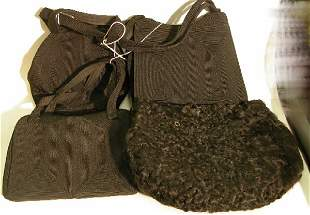 ***FOUR PIECES| Muff and three purses, by Corde.