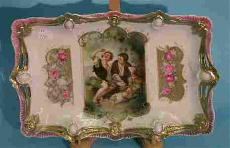 3278: ***R.S. PRUSSIA DRESSER TRAY| Having gilt and pin
