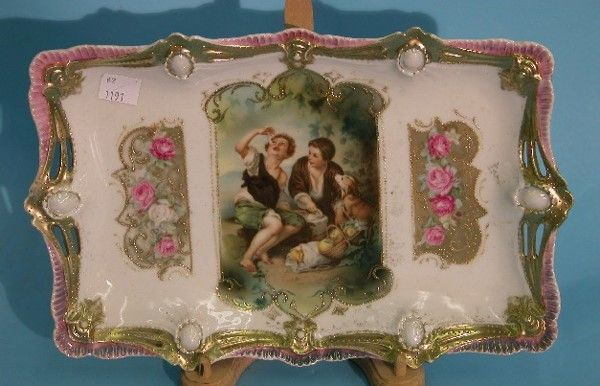 ***R.S. PRUSSIA DRESSER TRAY  Having gilt and pin