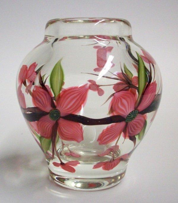 1002: ORIENT & FLUME ART GLASS PAPERWEIGHT VASE