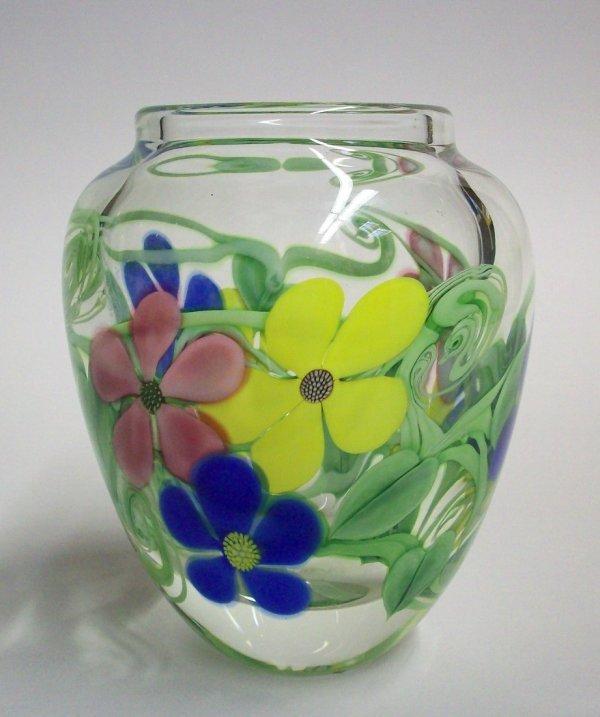 1003: ORIENT & FLUME ART GLASS PAPERWEIGHT VASE