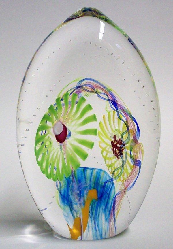 1023: MERIDIAN STREET ART GLASS PAPERWEIGHT