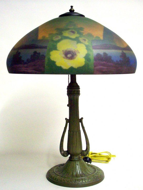 AMERICAN REVERSE PAINTED TABLE LAMP