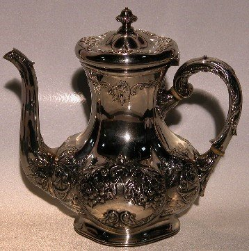 5003: GORHAM STERLING SILVER COFFEE POT| Having repouss