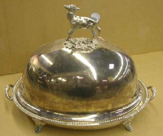 5008: 19TH CENTURY SHEFFIELD SILVERPLATE COVERED VENISO