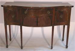 5596: 19TH CENTURY FEDERAL STYLE MAHOGANY SIDEBOARD  Th