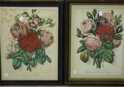 4266 GROUP OF TWO FRAMED CURRIER AND IVES PRINTS ON PA
