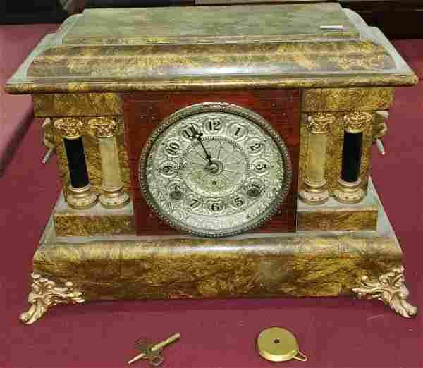 *19TH CENTURY MANTEL CLOCK