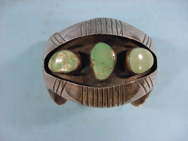 2001: ***SILVER AND TURQUOISE BRACELET