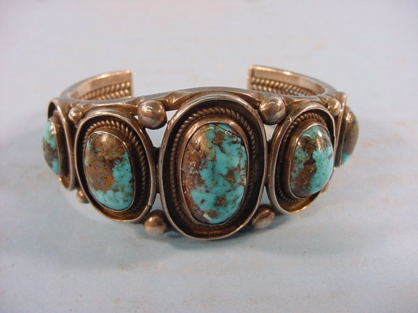 2002: ***SILVER AND TURQUOISE BRACELET