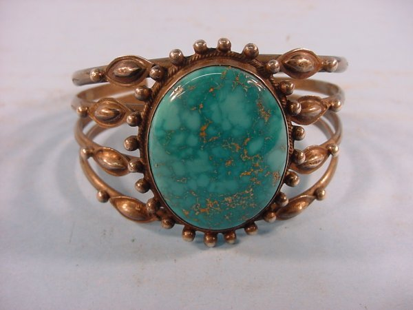 2003: ***SILVER AND TURQUOISE BRACELET