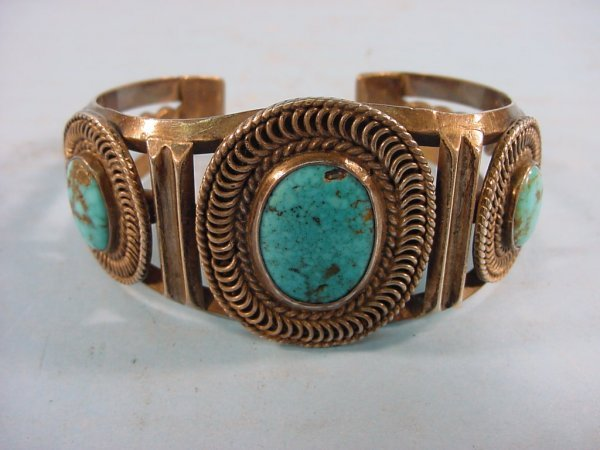 2004: ***SILVER AND TURQUOISE BRACELET