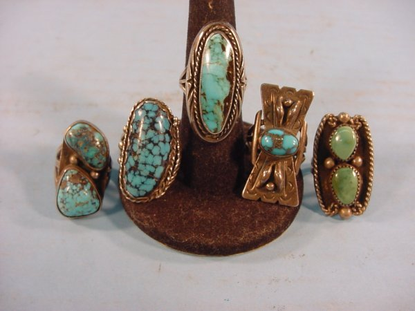 2017: ***FIVE SILVER AND TURQUOISE RINGS