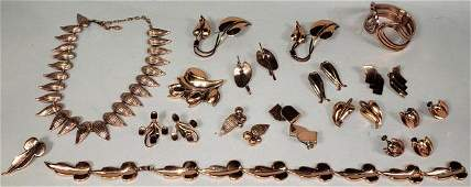 GROUP OF RENOIR COPPER JEWELRY