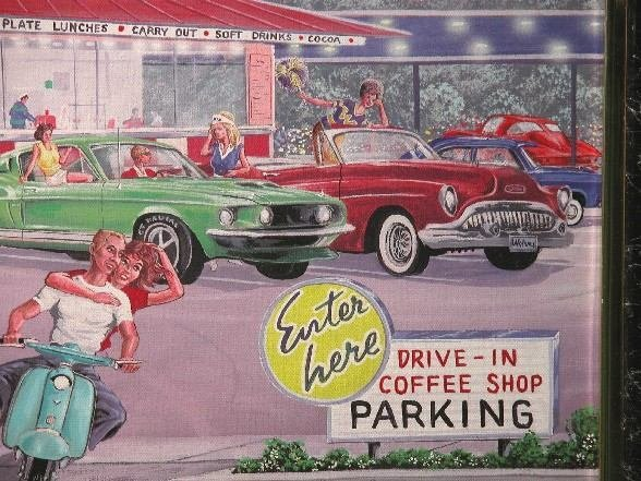 1252: KAISER| Route 66 Drive In, framed print on canvas - 4