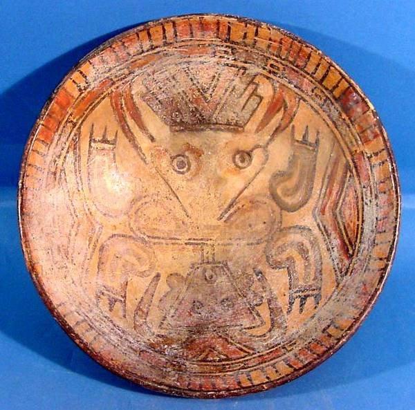 3017: COSTA RICAN PRE-COLUMBIAN POTTERY| Polychrome pai