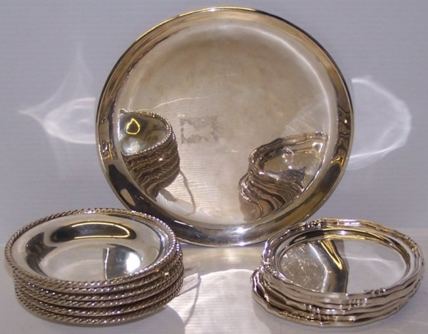 1108: ***THIRTEEN PIECES OF SANBORNS MEXICAN STERLING