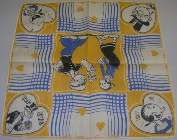1035:***POPEYE THE SAILOR AND OLIVE OYL HANDKERCHIEF - 2