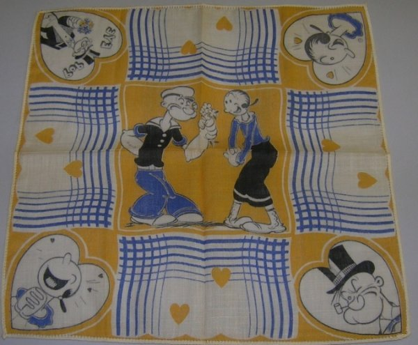 1035:***POPEYE THE SAILOR AND OLIVE OYL HANDKERCHIEF - 3
