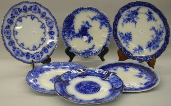 9: ***SIX FLOW BLUE PLATES