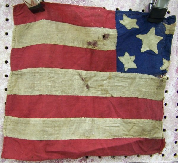 83: ***REMNANT FROM EARLY AMERICAN FLAG