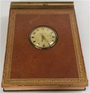 1938 TIME SECRETARY DESK CLOCK