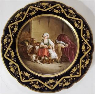 19TH CENTURY SEVRES PORCELAIN PLATE
