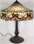 CHICAGO MOSAIC STAINED LEADED GLASS LAMP