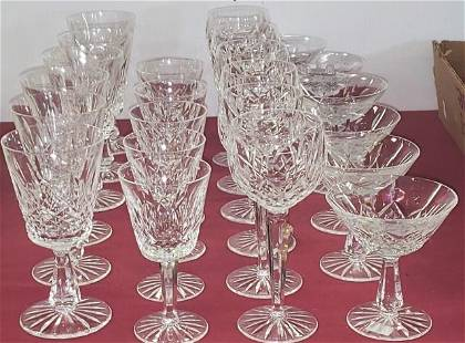 23 PIECES OF WATERFORD CRYSTAL