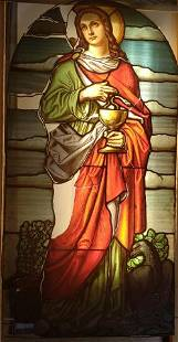 STAINED GLASS WINDOW FROM CHICAGO CHURCH