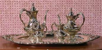 1699A: FIVE PIECE REED AND BARTON SILVERPLATE COFFEE AN