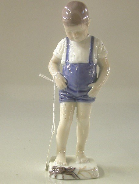 15: BING & GRONDAHL PORCELAIN FIGURE| ''Boy with Crab''