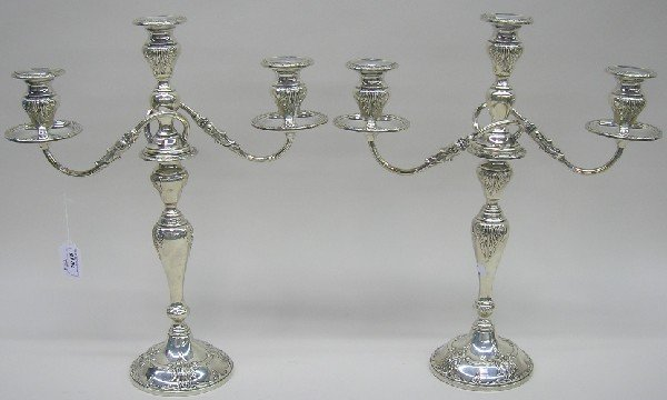 1015: ***PAIR OF FRANK M. WHITING STERLING SILVER WEIGH