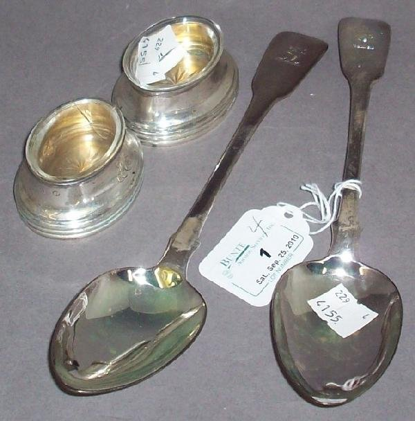 1: ***FOUR PIECES OF STERLING SILVER