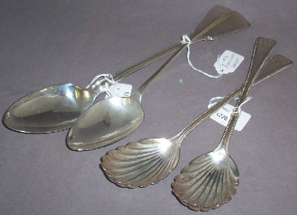 5: ***FOUR STERLING SILVER SERVING PIECES